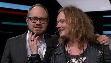Tuomas Enbuske ja Jonne Aaron Enbuske & Linnanahde Crew -lähetyksessä 12.3.2015.