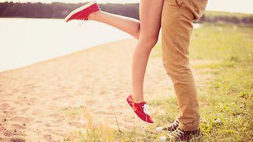 flirtti, kevät, pari, rakkaus