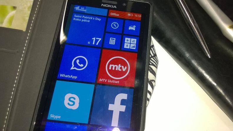 Netin mobiilikäyttö Whats App Facebook Skype