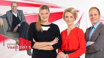 Vaalit 2015 Kuumat nimet -vaalitentti juontajat