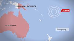 Samoalla voimakkaita maanj�ristyksi�