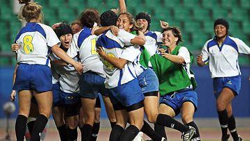 Kazakhstanin joukkue voittaa Kiinan, 2010