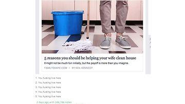 Kuvakaappaus/tumblr/aviomiesten kotityöt