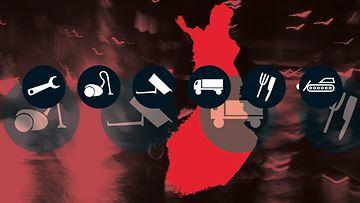 rikollisten toimialat suomessa