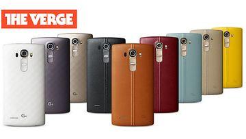 Vuodettu kuva LG G4 -puhelimesta. Kuvakaappaus The Verge -sivustolta