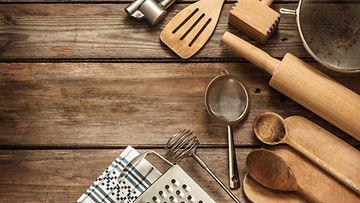 puisia keittiövälineitä