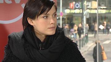 Krista Kosonen vieraili MTV:n Vaalikuution lähetyksessä.