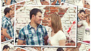 Kuvakollaasi pariskunnasta