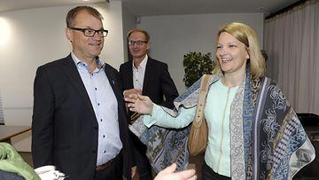 Juha Sipilä ja Mari Kiviniemi