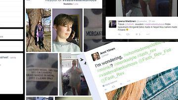 #Vaatevallankumous, kuvakaappaus Twitteristä.