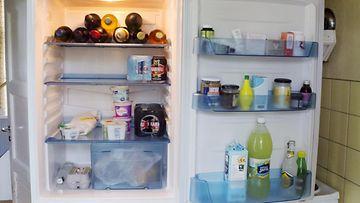 Näkymä jääkaappiin