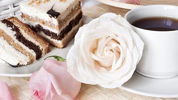 kahvi, juhla, kakku