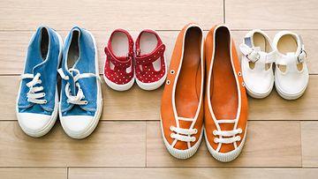 Erikokoisia kenkiä