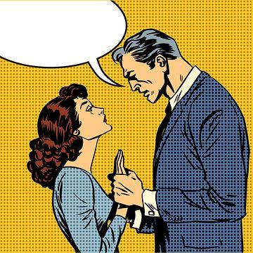 Miehen ja naisen välinen keskustelu.
