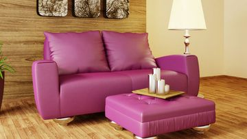 Pinkki sohva