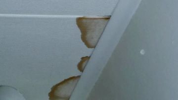 Kosteusjälki sisäkatossa (vaatehuone)