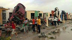 KUVAT ja VIDEO: Tornado pyyhk�isi Meksikon yli - satoja loukkaantui, ainakin 13 kuoli