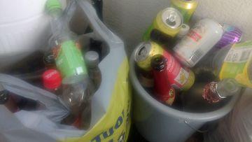 tyhjät pullot