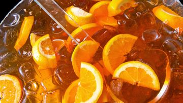 juoma, booli, appelsiini, drinkki, jää