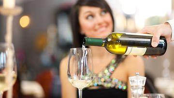 viini, ravintola, nainen