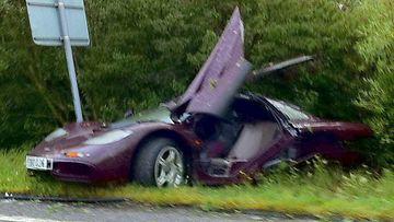 Rowan Atkinson täräytti ulos tieltä 4. elokuuta 2011 Peterborough'n lähellä Englannissa, noin 150 kilometriä Lontoosta pohjoiseen.