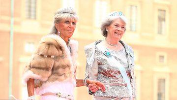 Kaarle Kustaan sisaret, prinsessa Birgitta ja prinsessa Margaretha. (1)