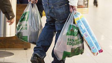 Kauppakassi ostokset muovikassi kauppa