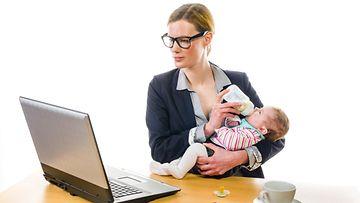 ura, äiti, äitys työelämä