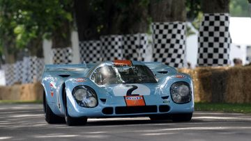 "Porsche 917, jota ajoi itse ""King of Cool"", Steve McQueen vuoden 1970 elokuvassa Le Mans."