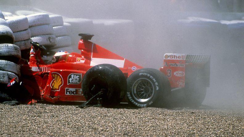Michael Schumacher, 1999, Silverstone, kolari, onnettomuus
