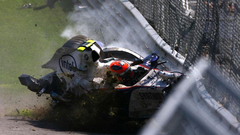 Robert Kubica, 2007, Kanada, onnettomuus, kolari
