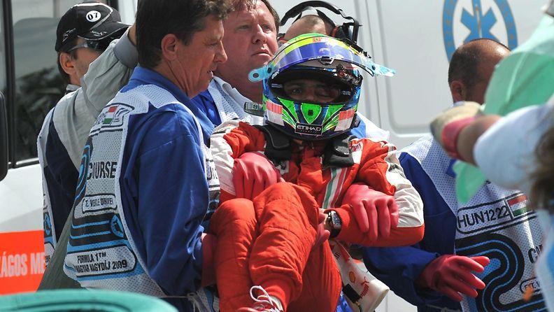 Felipe Massa, 2009, Unkari, kolari, onnettomuus