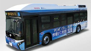 Toyota testaa polttokennobussia Tokion julkisessa liikenteessä
