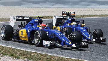 Sauber, Marcus Ericsson, Felipe Nasr, 2015