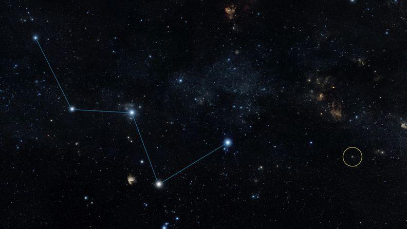 HD 219134b -eksoplaneetan sijainti Maasta katsottuna