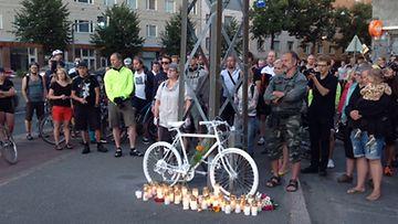 Pyöräilijän muistotilaisuus Helsingissä