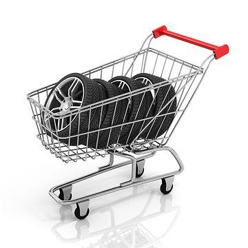 Ostoskärryt ja renkaita