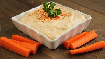 porkkana, hummus