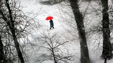 nainen_talvi_sateenvarjo