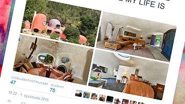 flintstones, talo, twitter, kuvakaappaus
