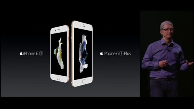 Tim Cook esittelee uusia iPhone 6s -malleja