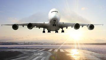 lentokone, nousu, lentokenttä