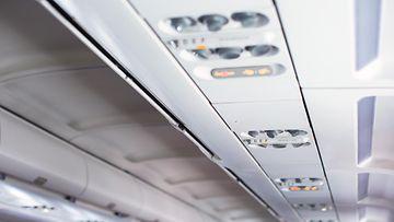 lentokone, merkkivalot, katto