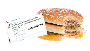 hampurilainen, bigmac, twitter, kuvakaappaus