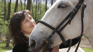 hevonen, nainen, terapia