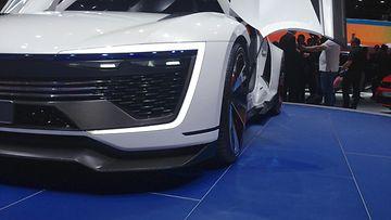 Volkswagen Golf GTE konseptin led-kuvio mukailee tuotantomallia.