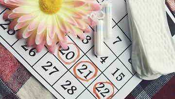 kuukautiset, kalenteri