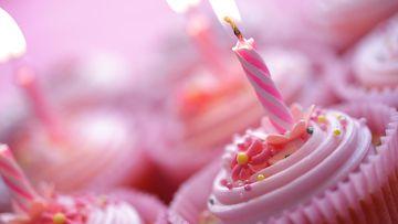 syntymäpäivä, muffinit, kynttilä