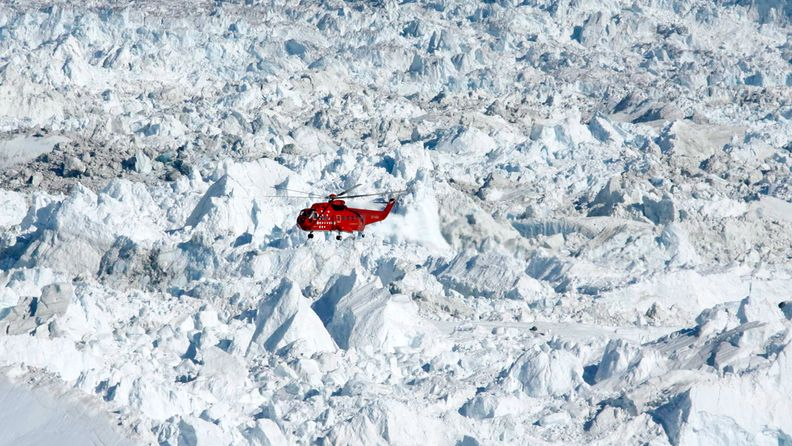 Grönlanti, ilmastonmuutos, turismi, sulaminen, helikopteri