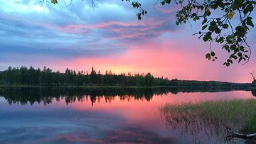 Auringonlasku Multialla syyskuussa 2015. Kuva: Jukka Heikkilä